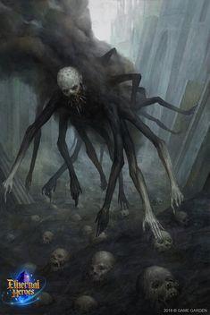 Shadow ART by Oleg Kapustin illustrator, concept artist Dark Fantasy Art, Fantasy Kunst, Fantasy Artwork, Monster Concept Art, Fantasy Monster, Monster Art, Shadow Monster, Monster High, Dark Creatures