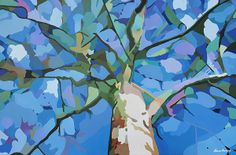 Abstract Tree - acrylic painting on canvas - 42x28x1.5 inches - Nancy Aurand-Humpf - Prints available.