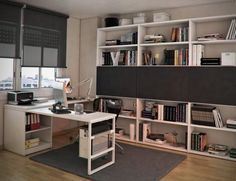 attractive-bookshelf-and-sectional-white-computer-desk-plus-acrylic-swivel-chair-on-modern-home-study-design.jpg 1,250×960 pixels