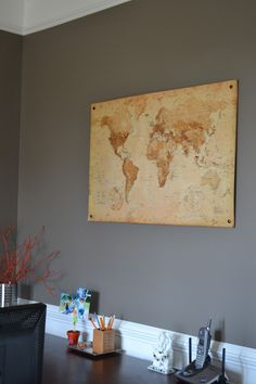 map cork board! I really wanna do this one day. Especially since Jon and I will be fulltime military