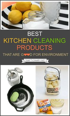 Kitchen cleaning products that are natural and chemical-free are a guide on how to clean your kitchen with homemade products that are good for environment. Bathroom Cleaning Hacks, Kitchen Cleaning, Cleaning Tips, Cleaning Supplies, Cool Things To Buy, Good Things, Housekeeping Tips, How To Remove Rust, Cleaning Business