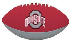 NCAA Ohio State Tailgater Football by Licensed Products. $19.99. Junior Size Playable Football - 10-Inches. Designed With Team Colors and Primary Logo. Stitched Rubber Material For Ease In Throwing & Catching. Packaged With Black Kicking Tee. Each football's playable pebble design is inspired by the helmets the teams wear on the field - bringing the action closer to the backyard or park than ever before!