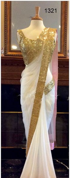 Indian Designer Party Wear Saree Georgette Border Work Plain White Saree Sari | Clothing, Shoes & Accessories, Cultural & Ethnic Clothing, India & Pakistan | eBay!