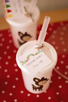 Snow White birthday party favors! See more party planning ideas at CatchMyParty.com!