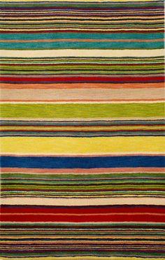Trans Ocean Imports Inca Stripes Red / Multi (9441/24) Area Rugs