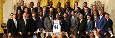 Check out some scenes of the Warriors' visit to the White House.