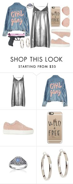 """Sem título #280"" by alicehgrier ❤ liked on Polyvore featuring River Island, High Heels Suicide, Axel Arigato, Casetify, Kate Spade and Betsey Johnson"