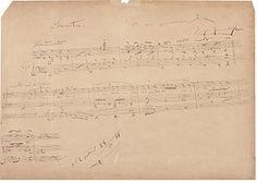 """""""Partitura, 1894"""", d'Enric Granados. És la proposta del Museu d'Art de Girona per al viquiprojecte 'Una Joia del Museu' (DIM 2013)"""