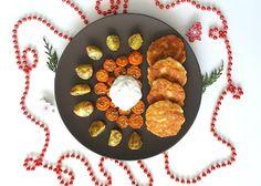 Sýrové placičky, brambory s mrkví na rozmarýnu a tymiánu a jogurtový dip | Andy's diary - blog o všem, co mě baví a naplňuje
