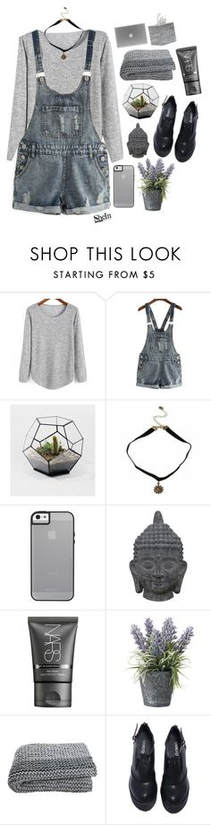 """""""#Shein"""" by credentovideos ❤ liked on Polyvore featuring Three Hands, NARS Cosmetics, OKA and Pigeon & Poodle"""