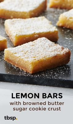 "Like all the best lemon bars, this easy version is absolutely packed with bright citrus flavor. We could go on and on about the creamy filling and how it strikes that perfect balance of tart and sweet (it really does), but we had you at ""browned butter,"" didn't we?"
