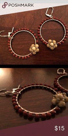 Anthropologie Bead Earrings Super sassy hoops! Anthropologie Jewelry Earrings