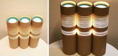 Lámparas con Tubos de Cartón: http://blog.cajadecarton.es/que-hacer-con-tubos-de-carton/?utm_source=Pinterest&utm_medium=social&utm_campaign=20160715-quehacer_tuboscarton