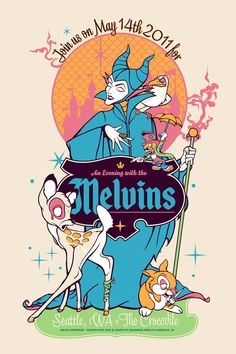 The Melvins poster by Angryblue