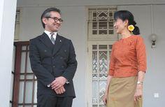 Dr Marty Natalegawa and Aung Ang Suu Kyi