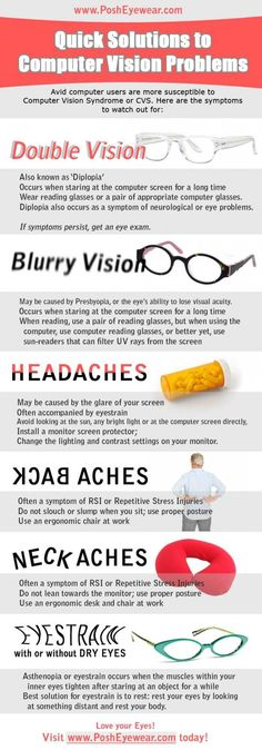 Computer Vision Problems: Have you experienced one or more of these symptoms?