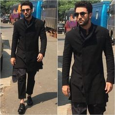 Mens indian wear - 5 Bollywood Celebrities Who Look Stunning in Ethnic Wear Mens Indian Wear, Mens Ethnic Wear, Indian Groom Wear, Indian Men Fashion, Mens Fashion Suits, Boy Fashion, Wedding Dresses Men Indian, Wedding Dress Men, Wedding Suits