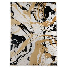 The Kavka Designs Marble Black and Gold Indoor Area Rug has such a unique and sophisticated design that it may be considered a work of art for your. Black White And Gold Bedroom, Black And Gold Living Room, Black White Gold, Black Gold White Wallpaper, White Bedroom, White Marble, Outdoor Rugs, Indoor Outdoor, Floor Art