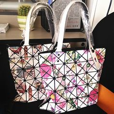 Women Fashion Casual Tote Diamond Lattice Handbag