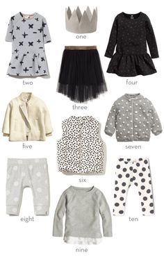 Monochrome Clothes for Girls