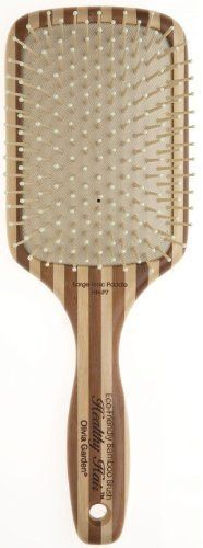 Olivia Garden Healthy Hair Paddle Large Ionic HH-p7 by Olivia Garden. $14.95. The Olivia Garden Healthy Hair HH-P7 is a large ionic paddle hair brush that is made from natural bamboo which is stronger, lighter and more durable than wood. It has ion-charged bristles, which helps restore hair balance and shine and makes for faster drying time. It styles better and is anti-static and anti-bacterial.