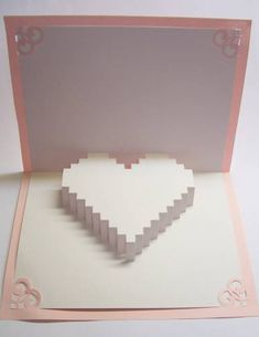 3D heart card - PAPER CRAFTS, SCRAPBOOKING & ATCs (ARTIST TRADING CARDS)