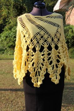 Hey, I found this really awesome Etsy listing at http://www.etsy.com/listing/163141972/crochet-poncho-yellow-crochet-poncho