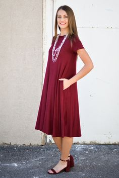 Marina Midi Dress in Burgundy - My Sisters Closet