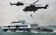 Singaporean Special Operations Forces Storm the Ship  http://www.specialforcesnews.com/2015/08/operation-thunderbolt-singapore-airlines-hostage-rescue/