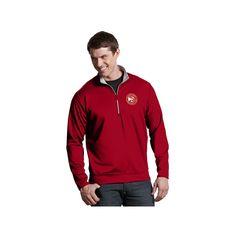 Men's Antigua Atlanta Hawks Leader Pullover, Size: Medium, Dark Red