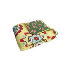 Adrianne Quilted Reversible Throw, Yellow
