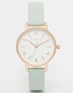 Olivia Burton Exclusive To ASOS Midi White Face Mint Watch