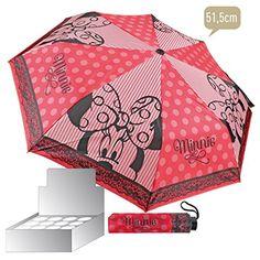 Paraguas Minnie Disney plegable 51cm - http://comprarparaguas.com/baratos/disney/paraguas-minnie-disney-plegable-51cm/