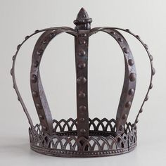 Cost Plus World Market - Large Metal King Crown - Victorian Isles Collection >> #WorldMarket