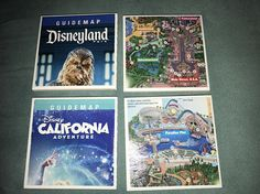 Disneyland / Disney California Adventure Park Map Coaster Set