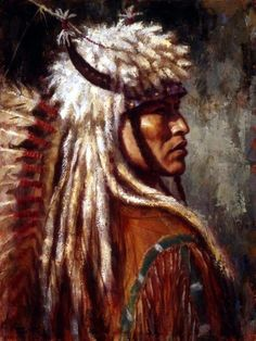 Artist James Ayers has sold Commanding Presence which features a Blackfoot man. James Ayers specializes in images of Native Americans