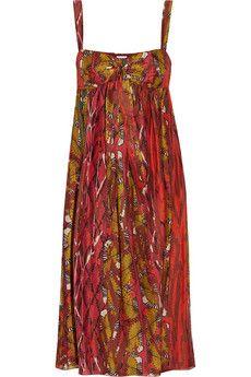 M Missoni Printed silk dress   THE OUTNET