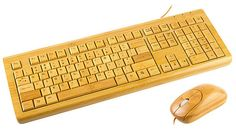 A bamboo keyboard and mouse! And they actually work too!