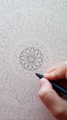 Satisfying drawing - mandala process