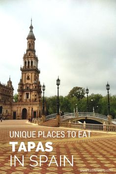 Travel Inspiration for Spain - If you find yourself in Spain, eating small plates at a tapas bar is a must. Here are five unique places to sample the local cuisine. Spain Honeymoon, Honeymoon Ideas, Travel Around The World, Around The Worlds, Backpacking Spain, Spain Culture, Spain And Portugal, Barcelona Spain, Barcelona Trip