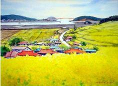 Watercolor Bird, Watercolor Paintings, Watercolors, Jung In Sung, Drawing Sketches, Drawings, Korean Art, Claude Monet, Aerial View
