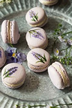 LAVENDER MACARONS   A Bit Wholesomely