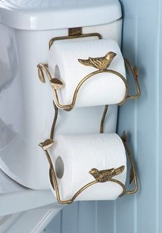 Metal Leaf Bathroom Toilet Paper Holder...found one of these at GW for $.99.