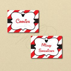 Mickey Mouse Printables Editable Labels Printable Labels
