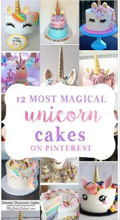 Unicorn cakes have taken over Pinterest! Unicorn birthday parties are all the hotness right now and nothing could be more magical than a glorious two-tier magical masterpiece with a gilded edible… More