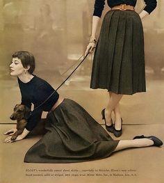 Barbara Mullen, photo by Francesco Scavullo, Vogue, August 15, 1954 | flickr skorver1