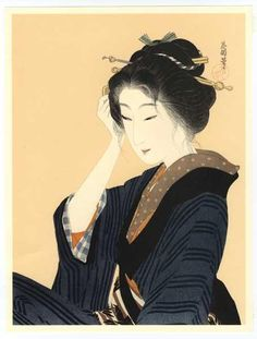 Hirezaki Eiho: Bijin in Kimono - Japanese Art Open Database