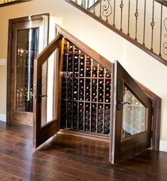Take advantage of that extra space under the stairs!