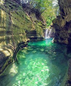 Tag who you'd take here! Kanlaob River Canyon, Cebu - Philippines via @ninjarod #wowplacestogo