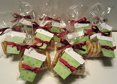 Bag full of cookies with a cute tag - can use any die cut to make the tag. Tag opens up for not cutting the entire portion